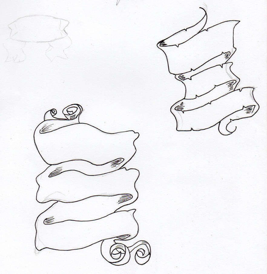 Scroll Drawing: Tattoo Scroll Designs By SmugsyQuinn On DeviantArt