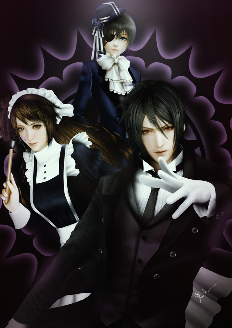Zara and Black butler by Thanomluk by thanomluk