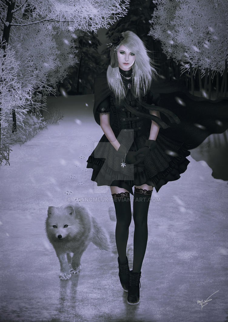 Scarlett and arctic fox by thanomluk