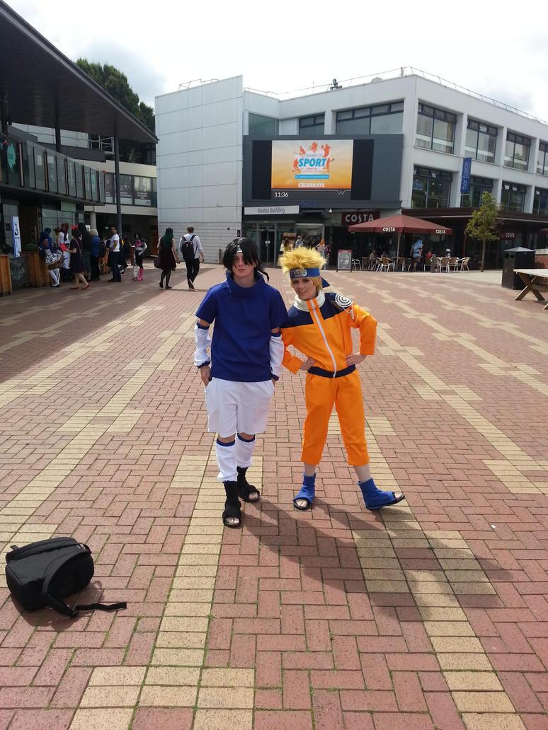 AmeCon 2016 - Naruto and Sasuke by Ether-Enereon