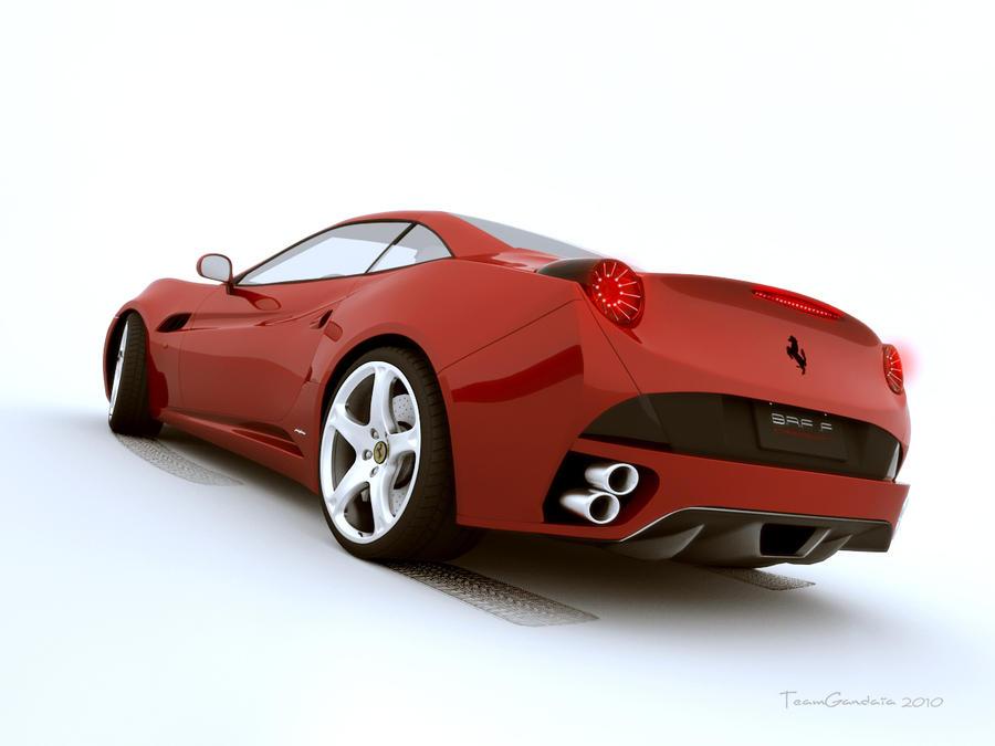 Ferrari California Back View By Teamgandaia3 On Deviantart