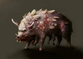 Concept of mutant pig. by Kozivara