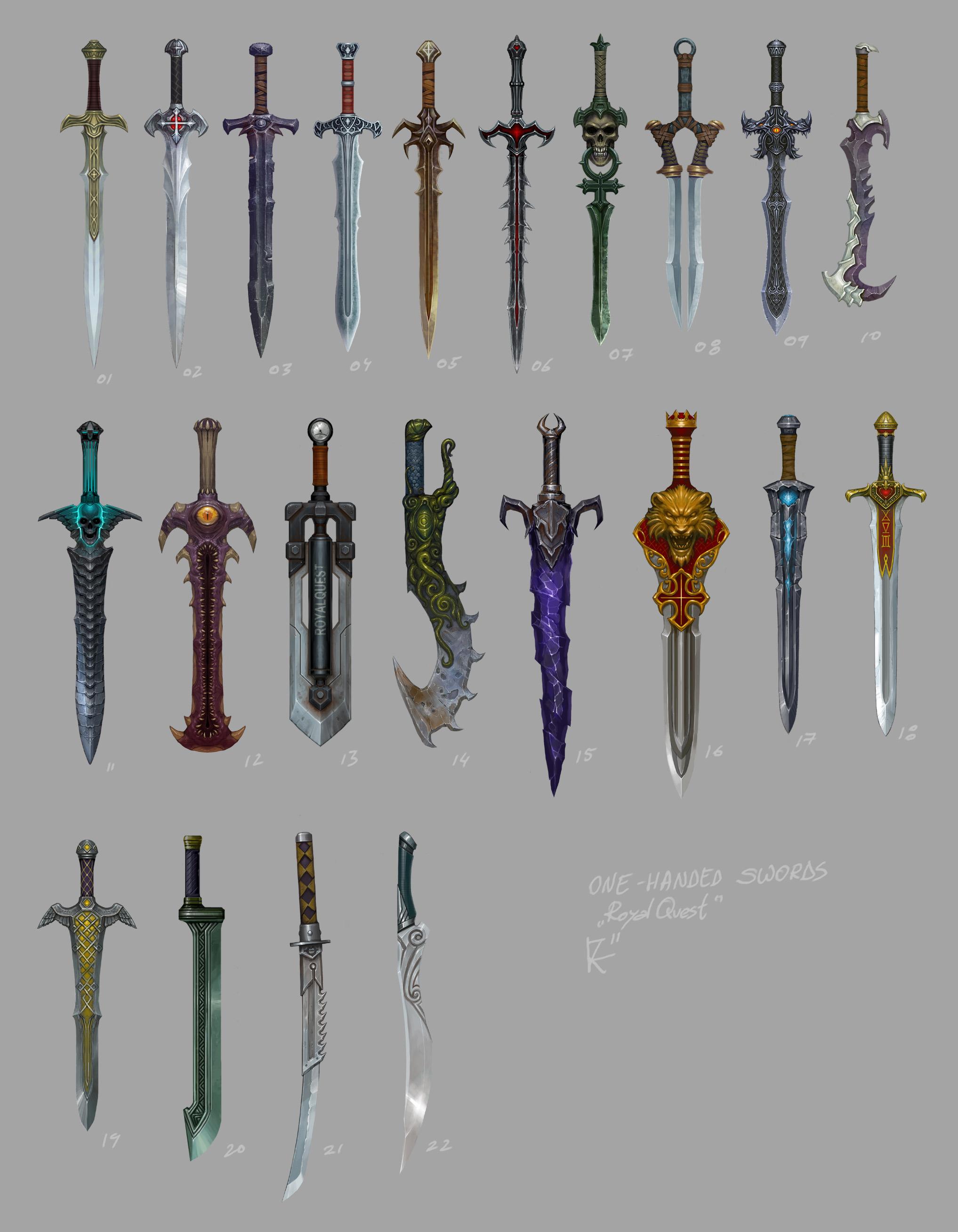 1-handed swords by Kozivara