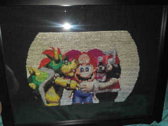 Super Mario RPG Marrymore cutscene cross stitch by pidgezerO-One