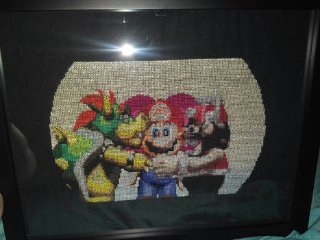 Super Mario RPG Marrymore cutscene cross stitch