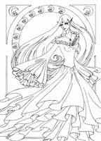 Naro Art Nouveau Line Art by Anarielhime