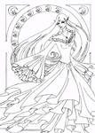 Naro Art Nouveau Line Art