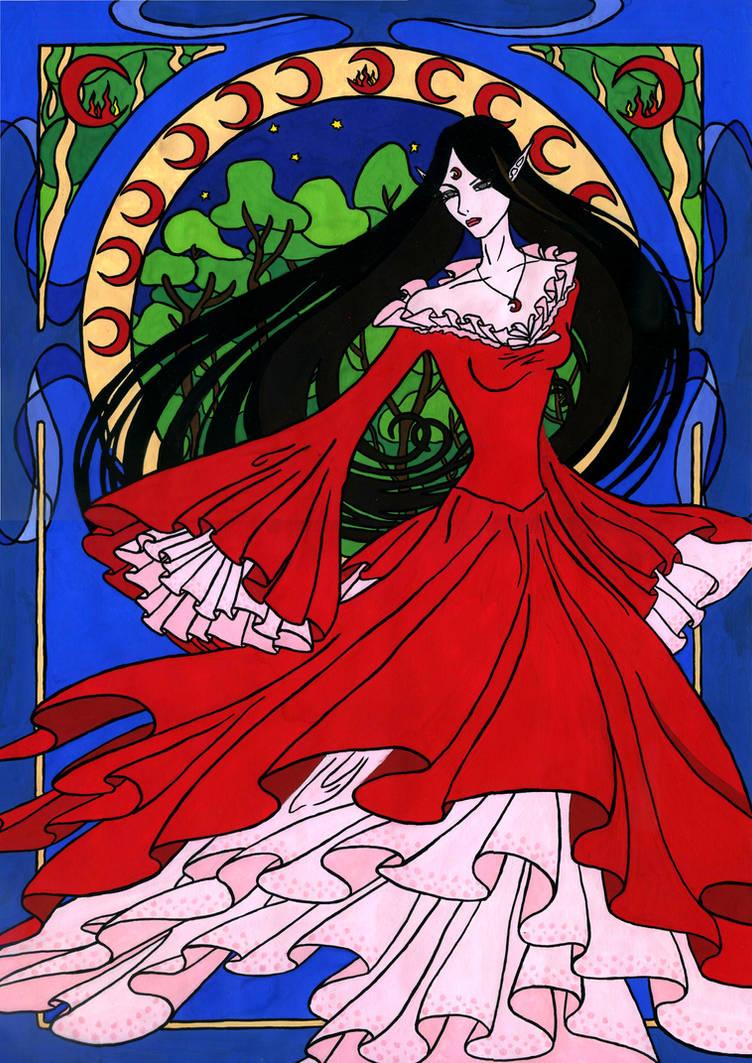 Naro Art Nouveau Colored