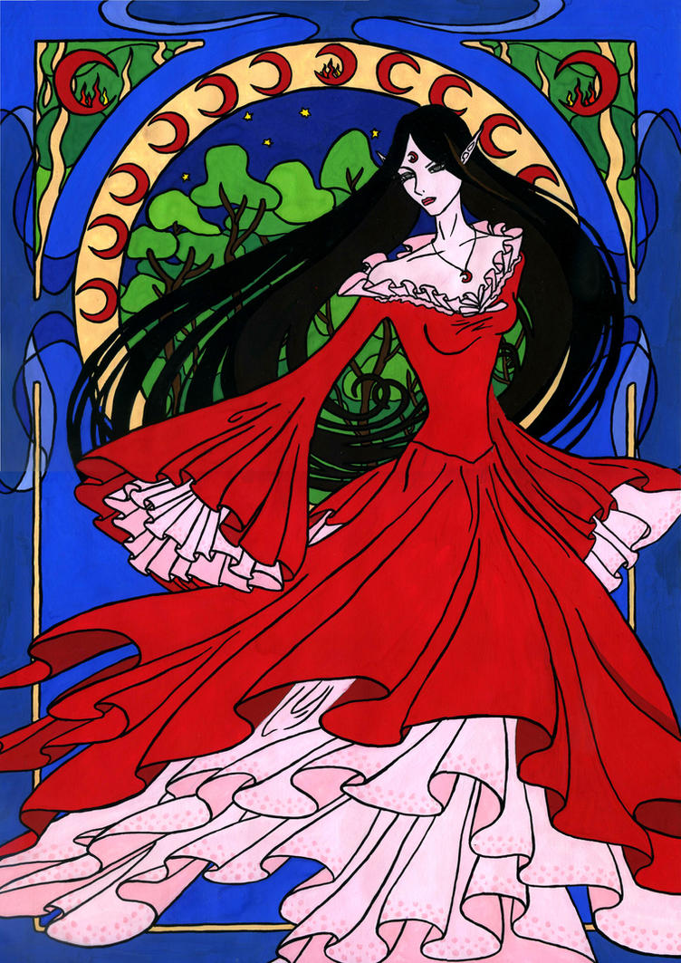 Naro Art Nouveau Colored by Anarielhime