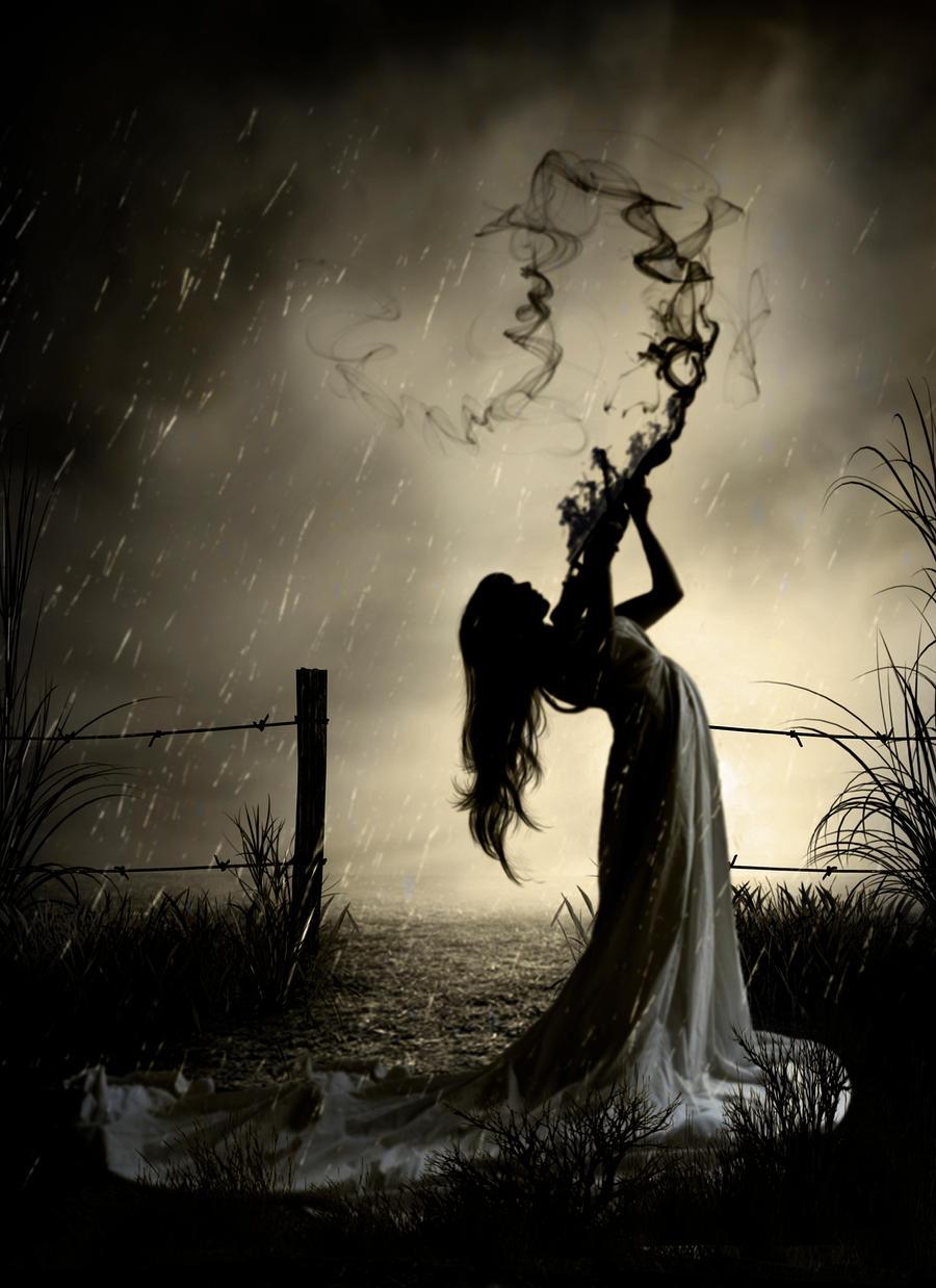 In the rain by Anarielhime