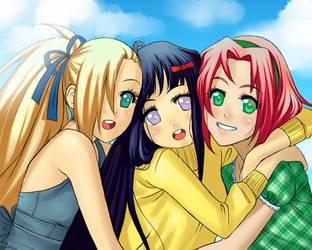 Ino, Hinata, and Sakura by Loli-King