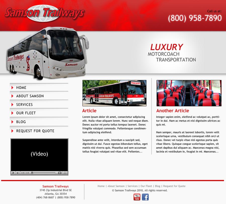 Red And White Website Design By Kellyryder On DeviantArt