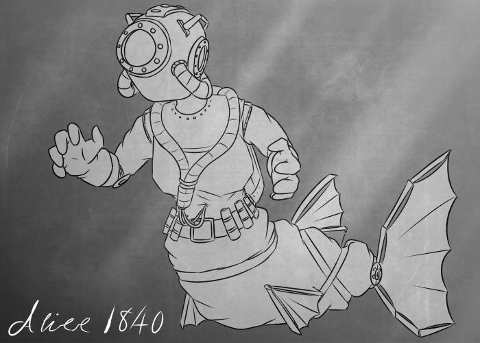 05-17-2018 - Mermay: 19th Century robomer by Frazamatron