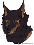 Cerberus Flat Colored Headshot