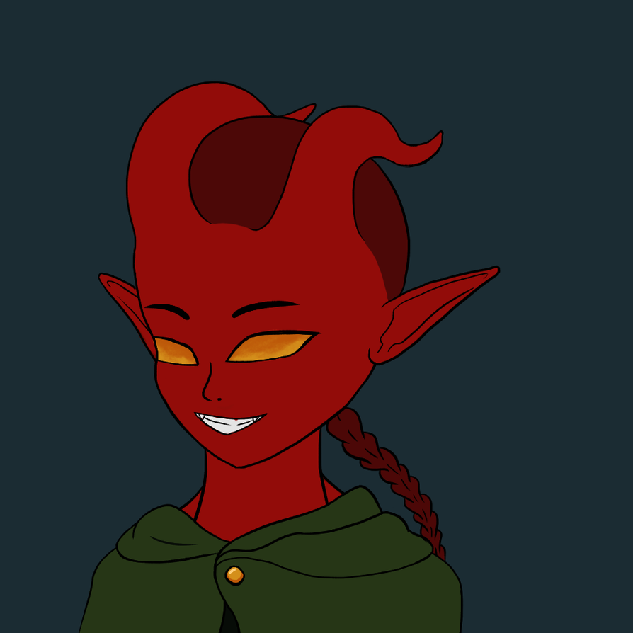 Tiefling Girl by SkylordEzzy