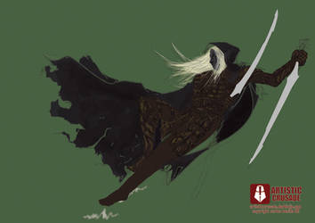 drizzt do urden sketch by ArtisticCrusade