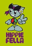 Fella hippie mascot