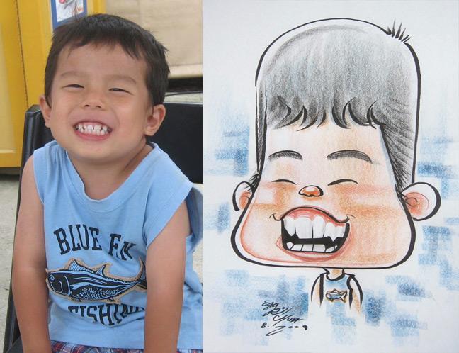 Веселого человека рисуют