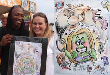 loki and hulk collab caricature 2013