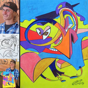 caricature collab eric goodwin color color! 2015