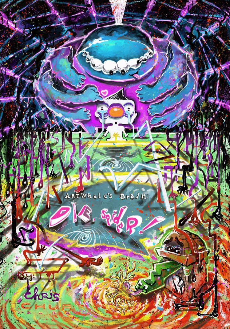 Artwhale's Brain Die, Spider! Art Book Cover