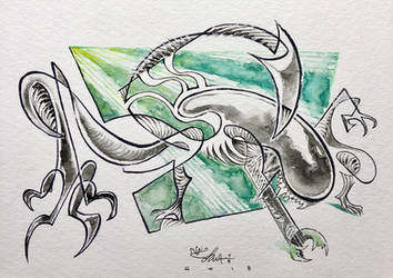 Alien Watercolor