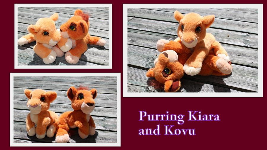 Purring Kiara and Kovu by Laurel-Lion