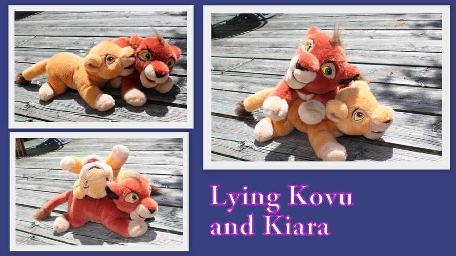 Kovu and Kiara plush by Laurel-Lion