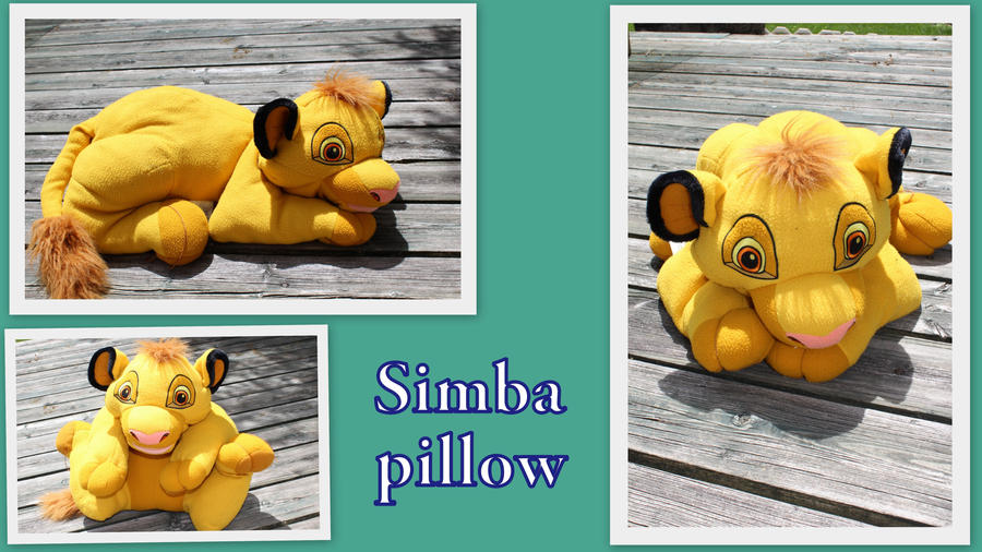 Big pillow Simba by Laurel-Lion