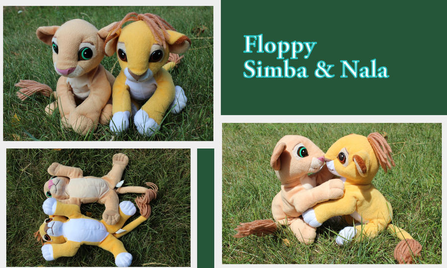 Floppy Simba and Nala by Laurel-Lion