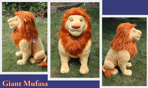 Jumbo Mufasa plush