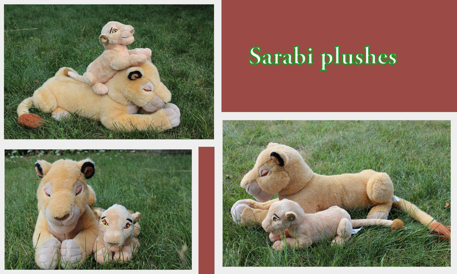 Sarabi plushies by Laurel-Lion