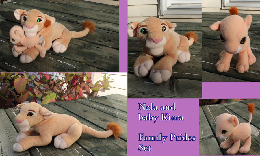 Nala and baby Kiara (Family Pride set) by Laurel-Lion