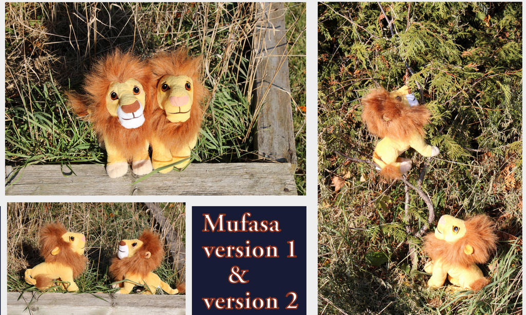 Mufasa version 1 and 2 by Laurel-Lion