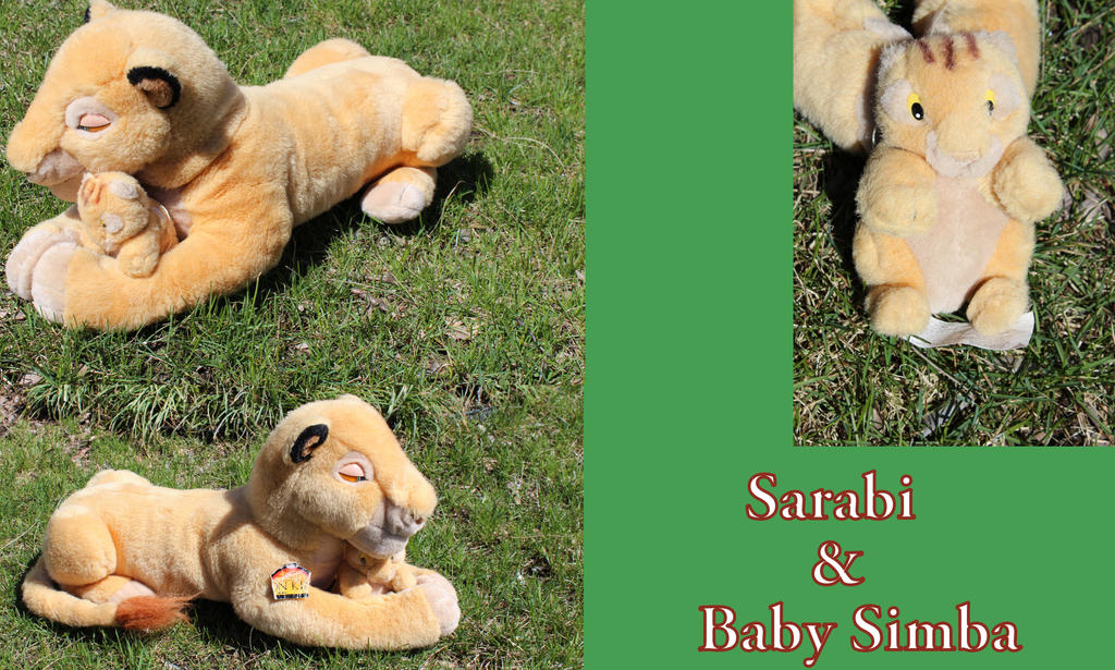 Sarabi with baby Simba by Laurel-Lion