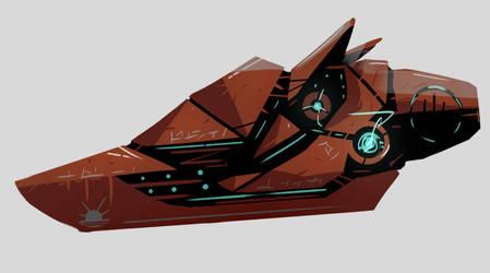 United Planets Stinger frigate ship by Esendi
