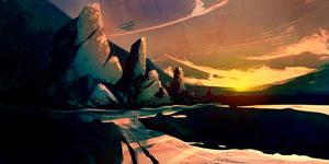 Azurite Sunset
