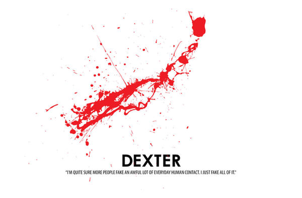 dexter blood splatter poster -#main