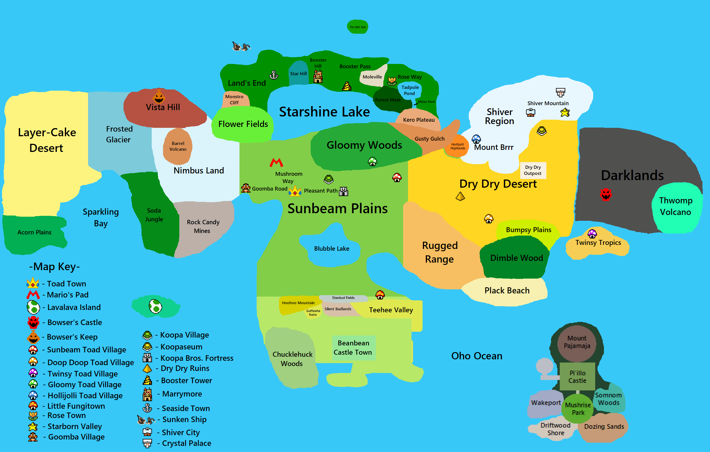 Mushroom Kingdom Map By Lukergamerz On Deviantart