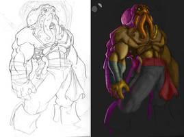 OctiPirate Work In Progress by -adam-