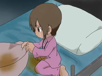Kari Kamiya wet the bed by peetish