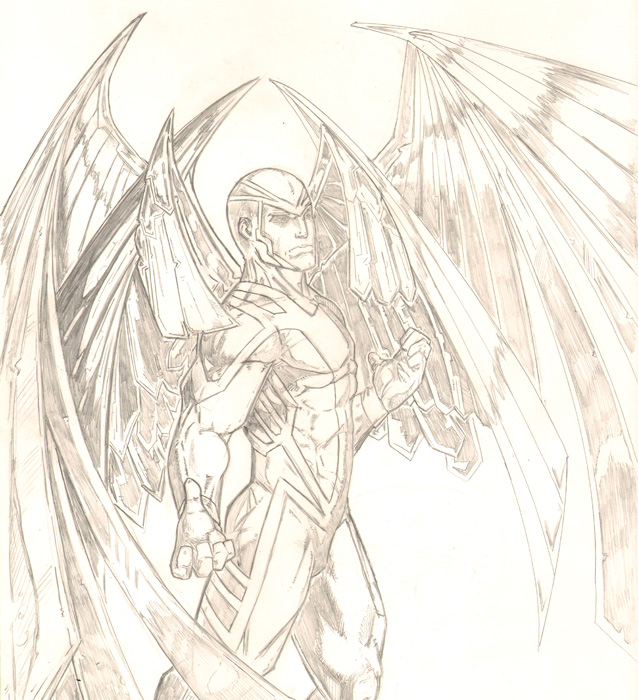 Old School ArcAngel sketch by JasonGodwin