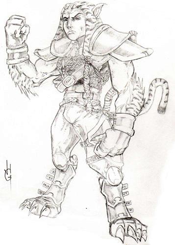 feline warrior concept by JasonGodwin