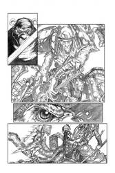 Ninja Bear page 2 pencils by JasonGodwin