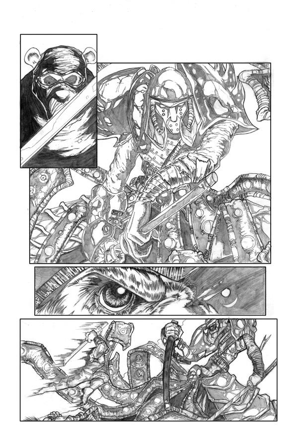 Ninja Bear page 2 pencils by JasonGodwin