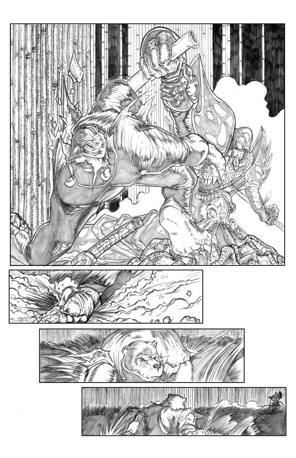 Ninja Bear page 3 pencils by JasonGodwin