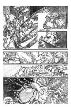 Ninja Bear page 5 pencils
