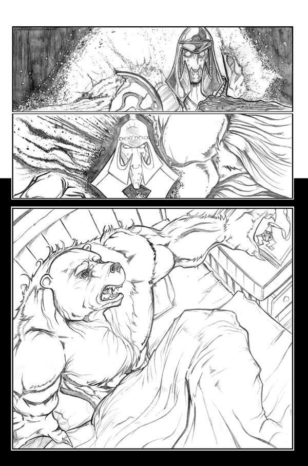 Ninja bear page 6 pencils by JasonGodwin