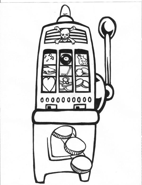 slot machine tattoo by karadarkthorn on deviantart. Black Bedroom Furniture Sets. Home Design Ideas