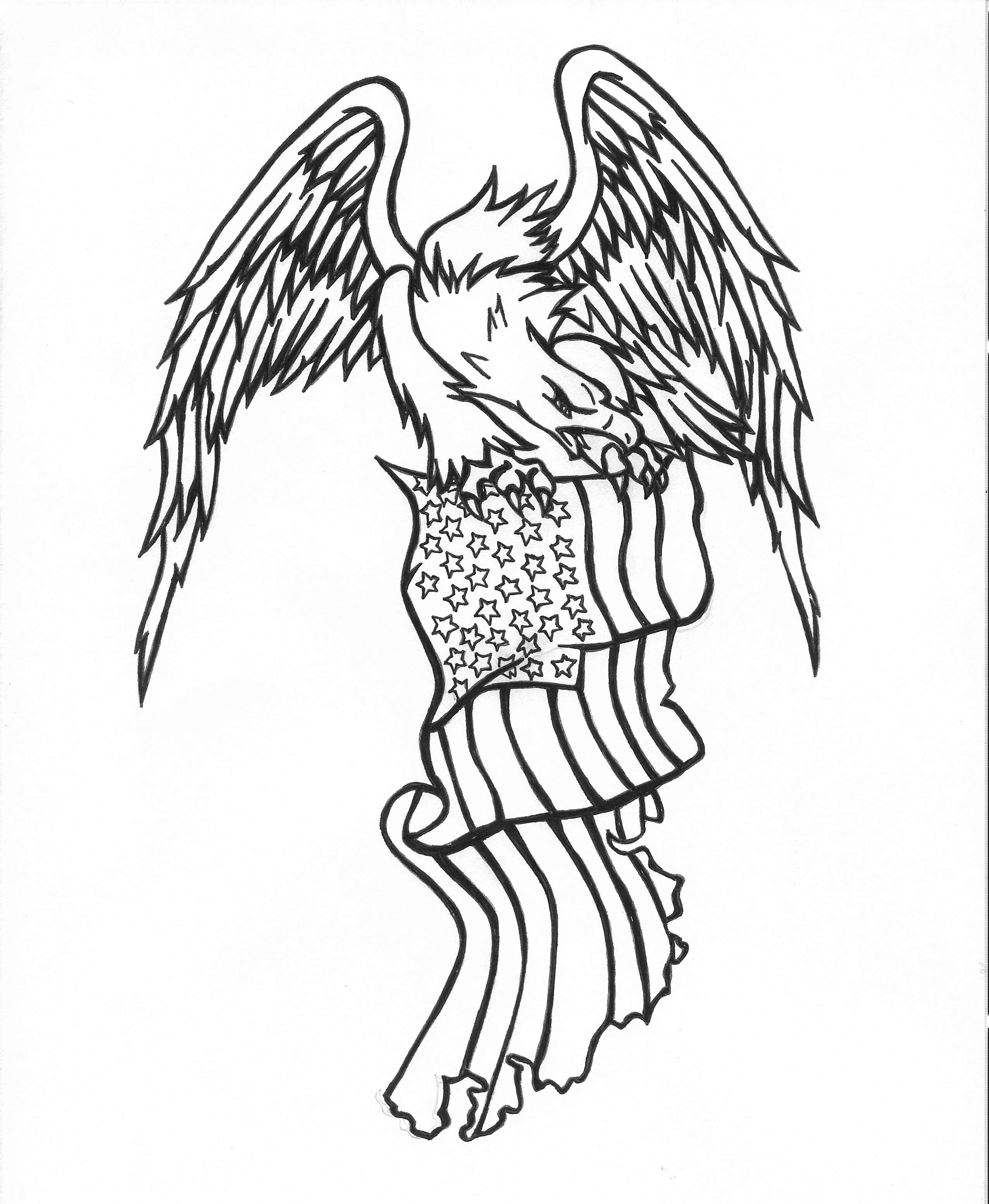 Eagle Tattoo Line Drawing : Eagle tattoo pictures designs of animal